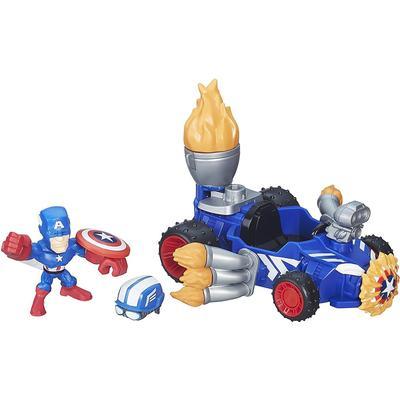 Hasbro Marvel Super Hero Mashers Captain America Racer Vehicle & Figure B6686