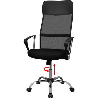 vidaXL Halvt PU Office Chair Karmstol, Kontorsstol