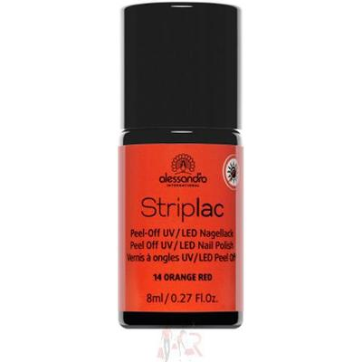 Alessandro Striplac Nail Polish #114 Orange Red 8ml