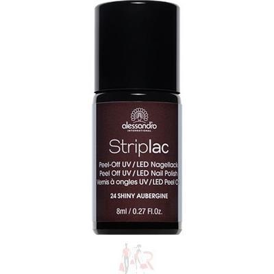 Alessandro Striplac Nail Polish #124 Shiny Aubergine 8ml