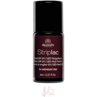 Alessandro Striplac Nail Polish #154 Midnight Red 8ml