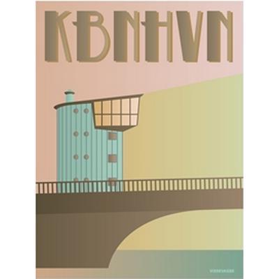 Vissevasse Copenhagen Langebro 30x40cm Affisch