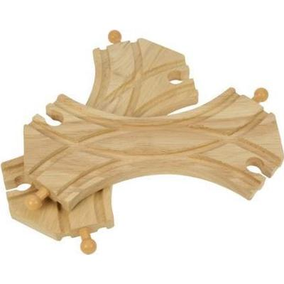 Bigjigs Double Curved Turnouts