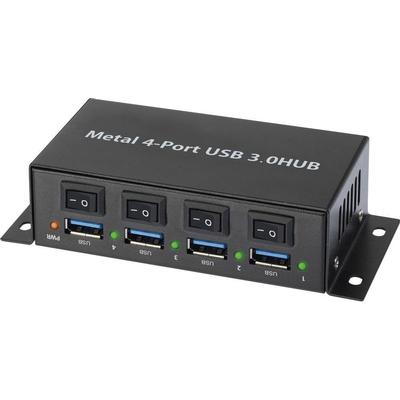 Renkforce 1318454 4-Port USB 3.0/3.1 Extern