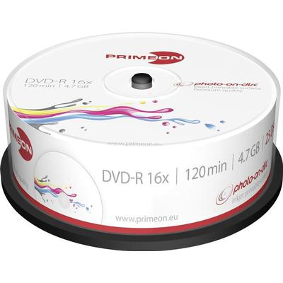 Primeon DVD-R 4.7GB 16x Spindle 25-Pack
