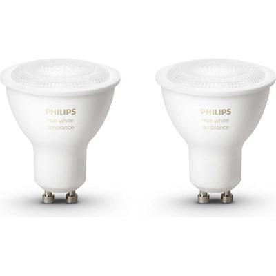 Philips Hue White Ambiance LED Lamp 5.5W GU10 2 Pack