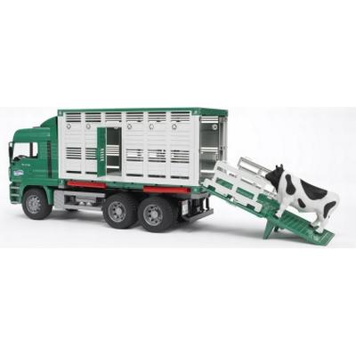 Bruder Man Cattle Transportation Truck Including 1 Cow 02749