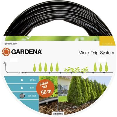 gardena micro drip system starter set planted rows l 50m. Black Bedroom Furniture Sets. Home Design Ideas