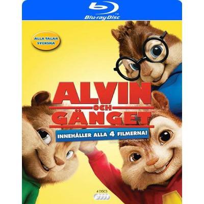 Alvin och gänget 1-4 Box (4Blu-ray) (Blu-Ray 2016)