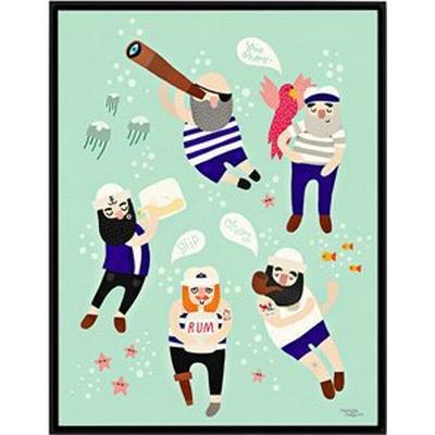 Michelle Carlslund Sailor Friends 30x40cm Affisch
