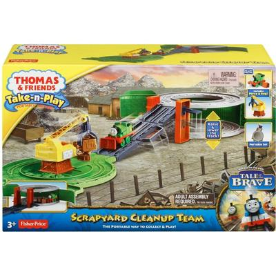 Fisher Price Thomas & Friends Take n Play Scrapyard Cleanup Team