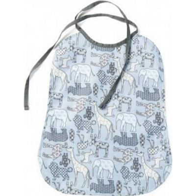 Smallstuff Animals Denim Animal Print with Eating Bib