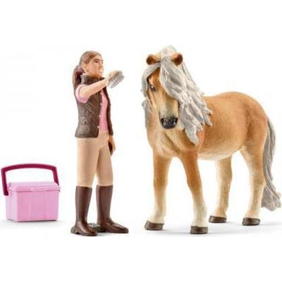 Schleich Groom with Icelandic Pony Mare 41431