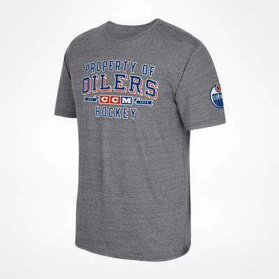 CCM Edmonton Oilers Property Block T-Shirt Sr