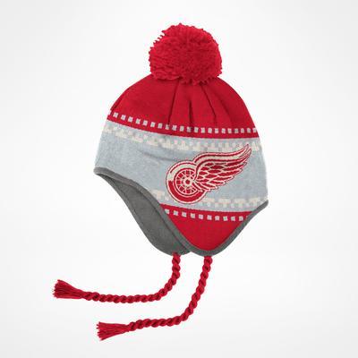 Reebok Detroit Red Wings Face Off Tassle Knit Pom Beanie