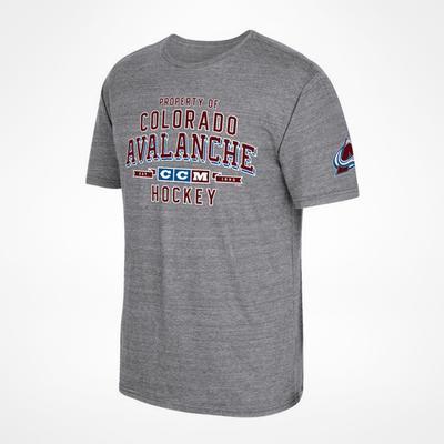 CCM Colorado Avalanche Property Block T-Shirt Sr