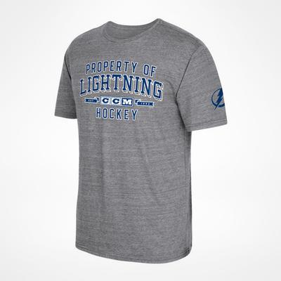 CCM Tampa Bay Lightning Property Block T-Shirt Sr