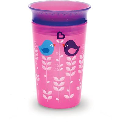 Munchkin Miracl 360° Deco Sippy Cup Pink Bird 266ml