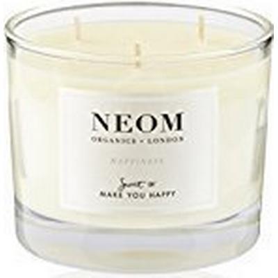 Neom Organics Happiness 3 Wicks Scented Candle White Neroli Mimosa & Lemon 420g