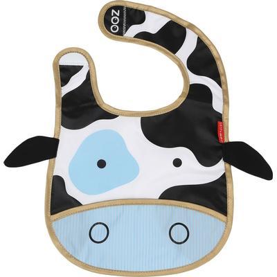 Skip Hop Zoo Tuck Away Baby Bib Cheddar Cow