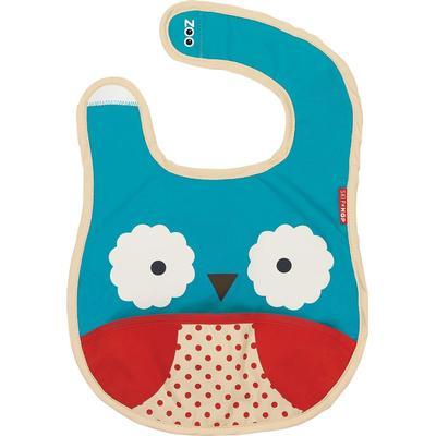 Skip Hop Zoo Tuck Away Baby Bib Otis Owl