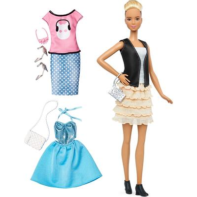 Mattel Barbie Fashionistas 44 Leather & Ruffles Doll & Fashions Tall