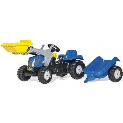 Rolly Toys Kid New Holland TVT 190 Tractor with Frontloader & Trailer