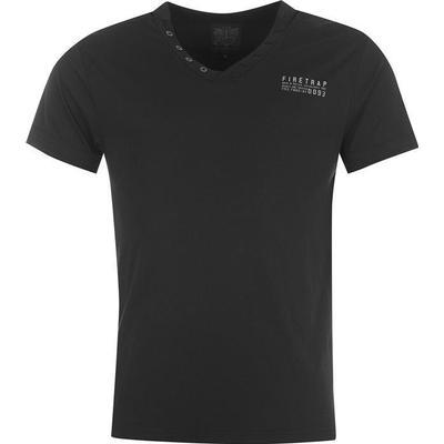 Firetrap Striding V Neck T-shirt Black (684029)