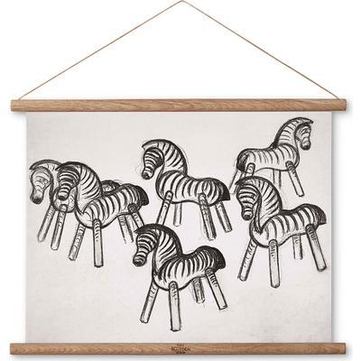 Kay Bojesen Zebra Print on Canvas 33cm Tavellist