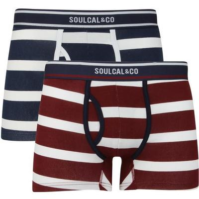 SoulCal Block Stripe Trunks 2-pack Navy/White/Burg (42128022)