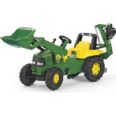 Rolly Toys Rolly Junior John Deere Tractor with Frontloader & Rear Excavator