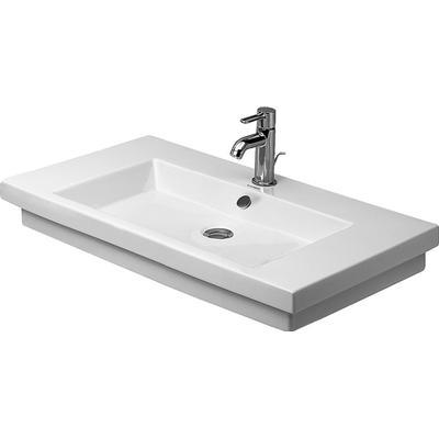 Duravit Duravit 2nd Floor Möbeltvättställ 800x500 mm, u/blandarhål, Wondergliss