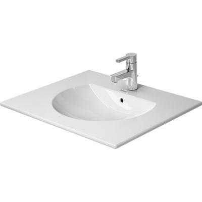 Duravit Duravit Darling New Möbeltvättställ 630x520 mm, 3 blandarhål, Wonfergliss