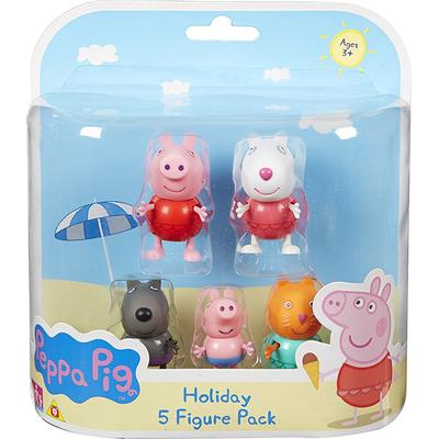 Character Peppa Pig Holiday 5 Figure Pack