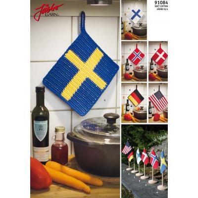 Järbo Grytlappar med flaggor