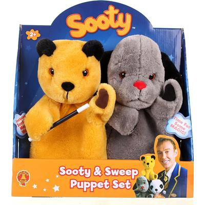 Golden Bear The Sooty Show Sooty & Sweep Puppet Set