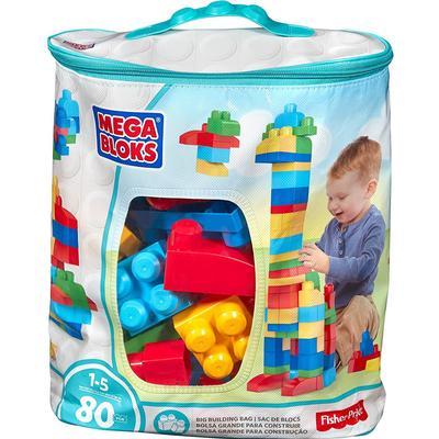 Mega Bloks Big Building Bag Classic 80pcs