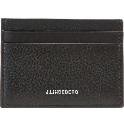J.Lindeberg Mix Leather Wallet - Black/Black (COMC963628353)