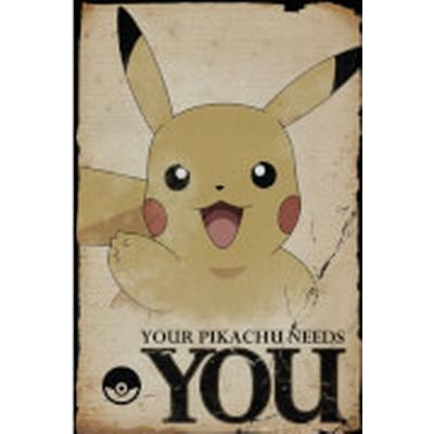 GB Eye Pokemon Pikachu Needs You Maxi 61x91.5cm Affisch