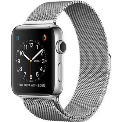 Apple Watch Series 2 42mm Stainless Steel Case with Milanese Loop