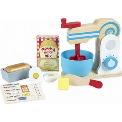 Melissa & Doug Wooden Make a Cake Mixer Set