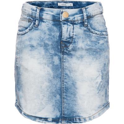 Name It Nittime Slim Denim Skirt - Grey/Light Blue Denim (13136097)