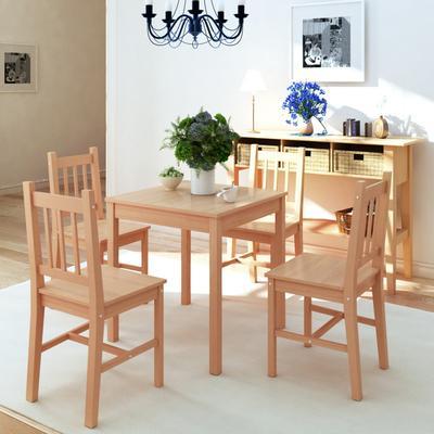 vidaXL 242958 Dining Set Bordsgrupp Köksstol