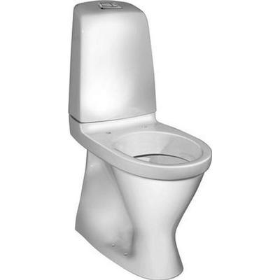 Gustavsberg Gustavsberg Nautic 5546L toilet høj model med S-lås og forhøjet trykknap