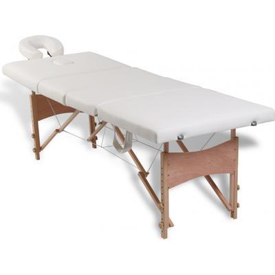 vidaXL Massagebänk 4 sektioner 110096