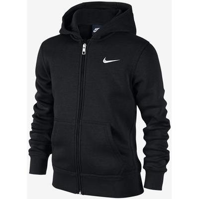 Nike Brushed Fleece Full-Zip - Black / White (619069_010)