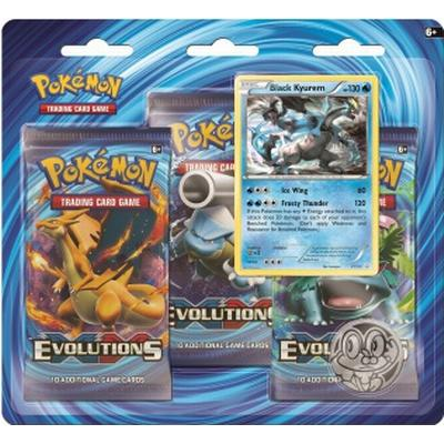 Pokémon XY-Evolutions 3 Booster Packs Black Kyurem Pin