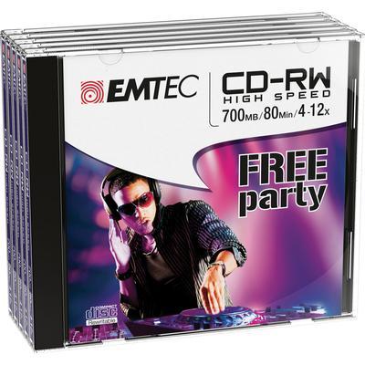 Emtec CD-RW 700MB 12x Jewelcase 5-Pack