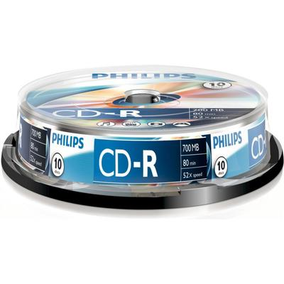 Philips CD-R 700MB 52x Spindle 10-Pack