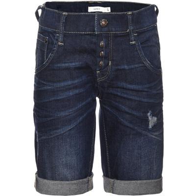 Name It Nittimo Slim Long Denim Shorts - Blue/Dark Blue Denim (13135681)